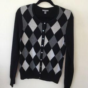 Apt. 9 black and white cashmere sweater. M